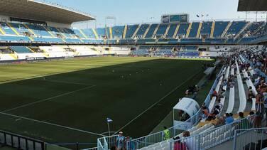 Hombre de 83 años vive la cuarentena en el estadio del Málaga