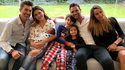Con el bebé de su exesposo Patricio Borghetti en brazos, Grettell Valdez celebró el Día de la Familia