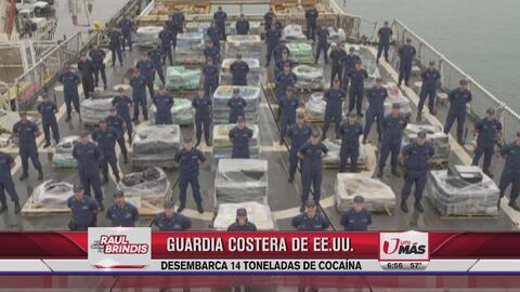Guardia Costera desembarca 14 toneladas de cocaína