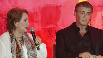 Junto a la mexicana Adriana Barraza, Sylvester Stallone llega a México a presentar 'Rambo: Last Blood'