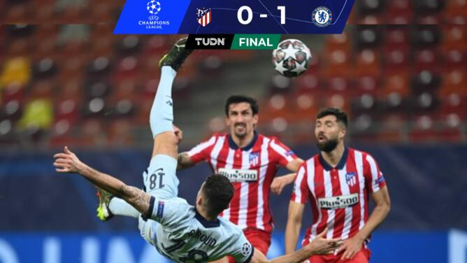 ¡Obra de arte de Giroud! Chelsea le pegó al defensivo Atlético
