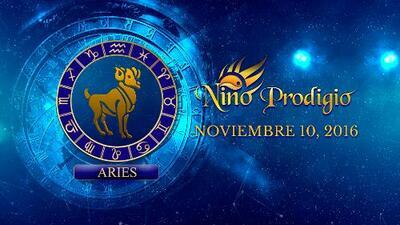 Niño Prodigio – Aries 10 de Noviembre, 2016