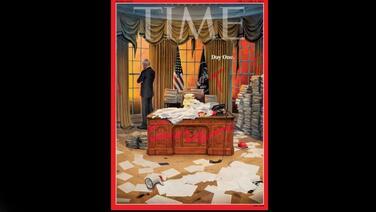 Con una potente imagen de portada, 'Time' muestra los retos que Biden tiene por delante