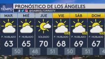 A Los Ángeles le espera una mañana de martes con nubosidad, según indica el pronóstico