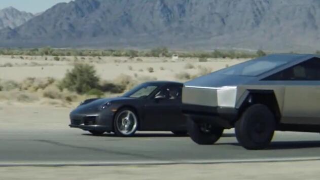 ¿Es posible? La nueva Cybertruck de Tesla se perfila como toda una devoradora de autos deportivos