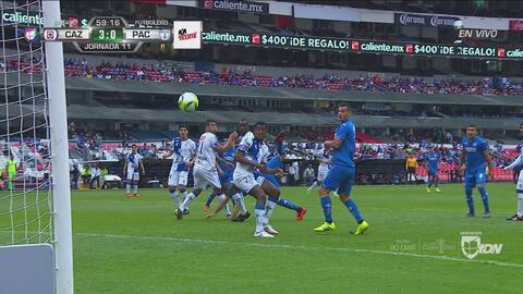 ¡Goleada Azul! Autogol de Ulloa da el 3-0 a Cruz Azul