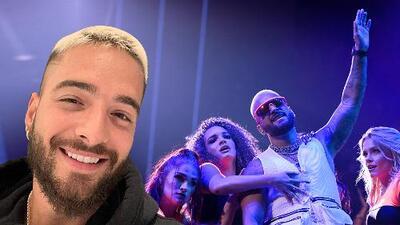'Felices los 4': Maluma pasó una noche muy bien acompañado
