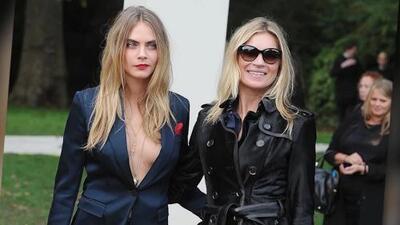 Cara Delevingne y Kate Moss lideraron Semana de Moda en Londres