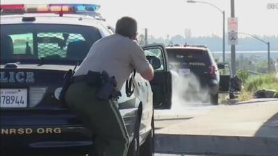 Una detención de tránsito desató una balacera en California y terminó con la muerte de un policía