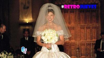 Retrojueves, así fue la gran boda de Thalía hace 16 años