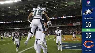 ¡Nick Foles lo volvió a hacer! Con drama, Eagles eliminó a Chicago y aún vive en Playoffs