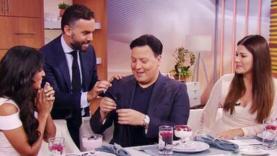 Raúl González planea subastar la corbata de Jorge Ramos que Enrique Acevedo le prestó para el show