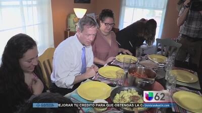 Martin O'Malley visita a una familia inmigrante de Austin