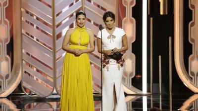 Eva Longoria y America Ferrera se burlan de confusión entre hispanas en Globo de Oro