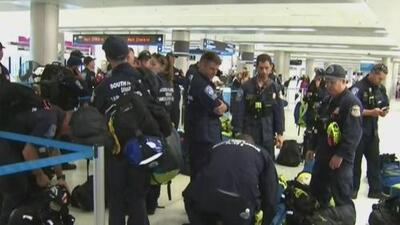 Un grupo de 70 rescatistas del sur de Florida viaja a Puerto Rico ante la amenazante llegada de Dorian