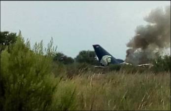 Las primeras imágenes del avión de Aeroméxico que se desplomó en Durango