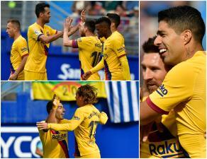 Barcelona golea 3-0 a Eibar y se mantiene en la cima de La Liga