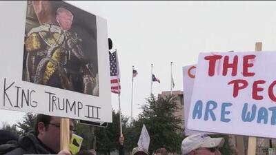 La ciudad de Fort Worth se sumó a la protesta en contra de la declaración de emergencia nacional de Trump