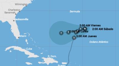 Pronostican giro brusco de la tormenta Karen hacia Las Bahamas y Florida