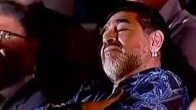 Maradona se duerme en discurso de Nicolás Maduro en Venezuela