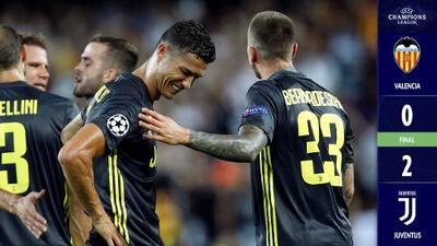 Las lágrimas de Cristiano empañan el valioso triunfo de la Juventus sobre Valencia