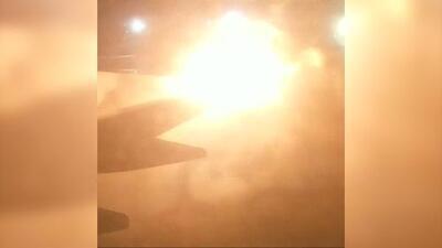 Así fue la explosión provocada por el choque de dos aviones en la pista del aeropuerto de Toronto