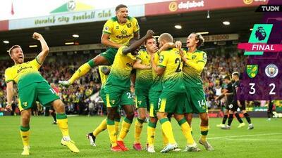 Norwich con la sorpresa de la semana: venció al Man. City