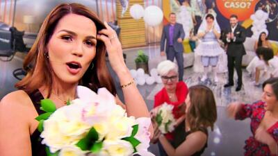 ¿Karina Banda se casa? Cachó el ramo de novia de doña Meche y solo nos falta saber del novio