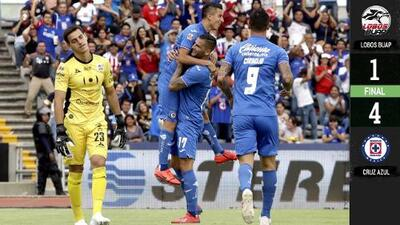 Cruz Azul amarró su calificación a Liguilla tras golear a Lobos BUAP