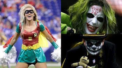 Desde los aficionados hasta las porristas, el espíritu de Halloween se tomó la NFL
