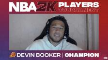 Devin Booker gana el torneo virtual de NBA 2K20