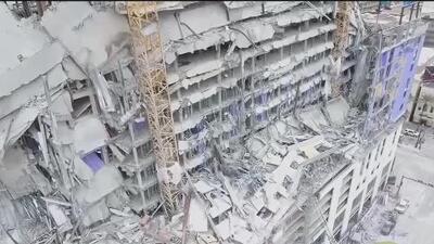 Familias de dos de las tres víctimas del derrumbe de un hotel en Louisiana demandan a la constructora