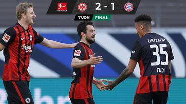 Eintracht tunde al Bayern antes de enfrentar a la Lazio en Champions