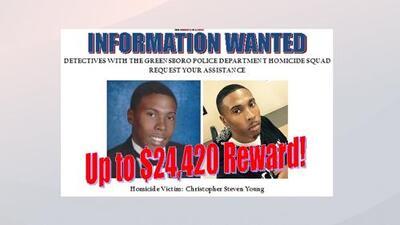 Aumentan recompensa a $ 24,420.00 para quien de con información que ayude a encontrar a el o los culpables del asesinato de un joven en Carolina del Norte
