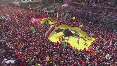 Espectacular color: Ferrari invadió Monza para festejar la victoria de Leclerc