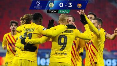 Sin Messi, Barça golea a Ferencvaros y sigue con paso perfecto