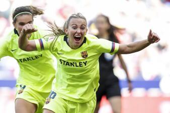 En fotos: Barcelona venció de visita al Atlético de Madrid y apretó la Liga Femenina de España