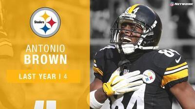 #4: Antonio Brown (WR, Steelers)   Top 100 Jugadores 2017