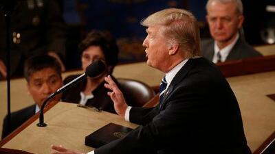 Este es el discurso completo (en inglés) del presidente Donald Trump ante el Congreso