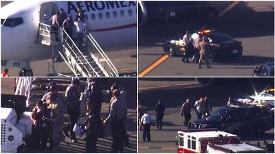 Caos en vuelo de Aeroméxico que nunca llegó a San Francisco: dos personas detenidas y una hospitalizada