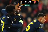 Arsenal remonta en Bélgica pero será segundo de Grupo