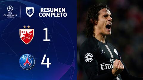 Estrella Roja 1-4 PSG - GOLES Y RESUMEN - Grupo C - UEFA Champions League
