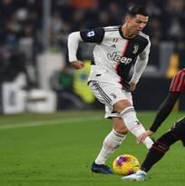 Con lesión de CR7 incluida, Juventus derrotó al Milan y es líder