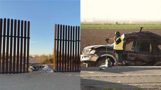 """""""Se sofocó el fuego"""": revelan comunicación entre agentes tras incidente con una segunda camioneta que cruzó el muro fronterizo"""