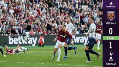 'Chicharito' reapareció, entró al 57', estuvo cerca del gol, pero el Tottenham venció al West Ham