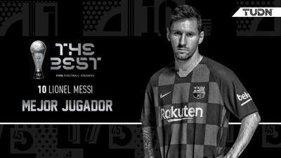 ¡Enorme! Messi gana su primer The Best al Jugador de la FIFA