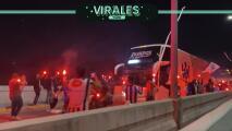 Sensacional recibimiento a Rayados previo a la Final de Copa MX