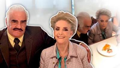 Vicente Fernandez y Doña Cuquita celebran sus Bodas de Esmeralda