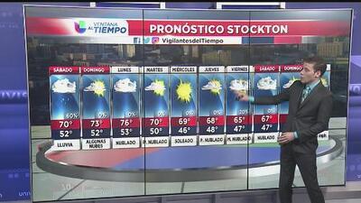 Fin de semana con lluvias para el norte de California