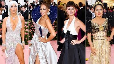 JLo, Thalía, Penélope Cruz y Salma Hayek pusieron el toque latino a la alfombra rosa de la Met Gala